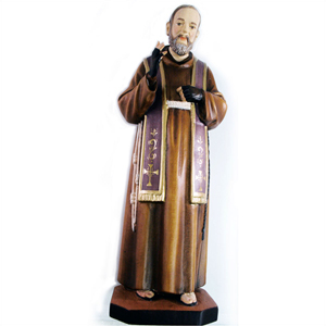 Hand Carved Italian St Padre Pio of Pietrelcina Statue